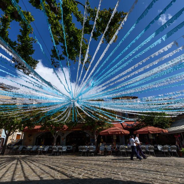 """Valldemossa square, Majorca"" stock image"