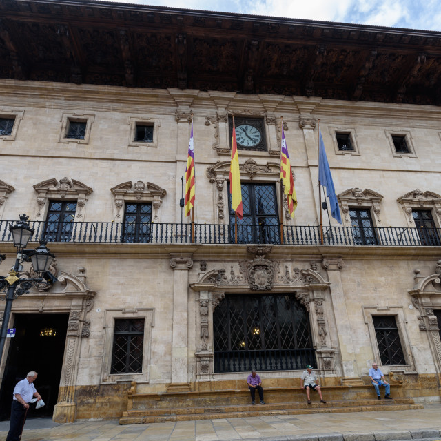 """Palma town hall, Palma, Majorca"" stock image"