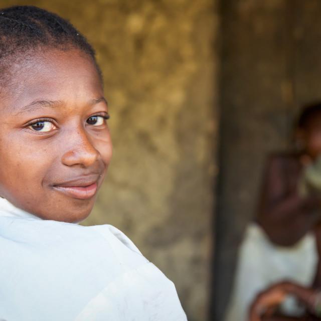 """Children and Childhood in Sierra Leone XXIII"" stock image"