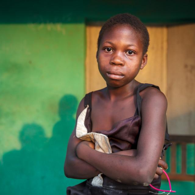 """Children and Childhood in Sierra Leone XXV"" stock image"