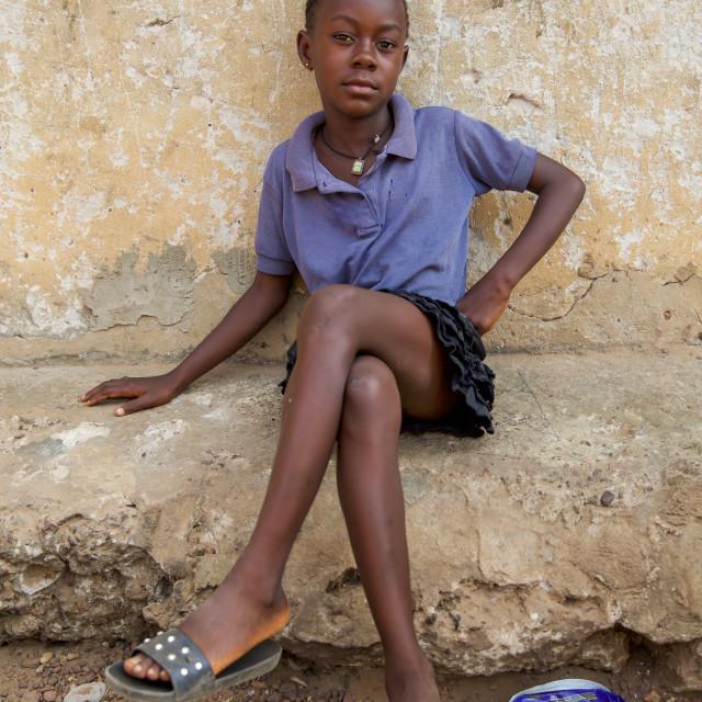 """Children and Childhood in Sierra Leone XXII"" stock image"