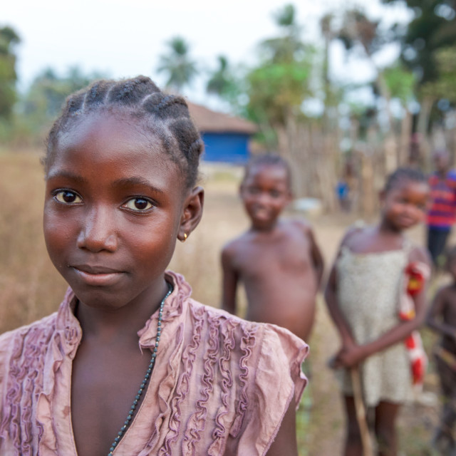 """""""Children and Childhood in Sierra Leone XL"""" stock image"""