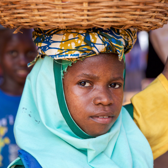 """""""Children and Childhood in Sierra Leone XLII"""" stock image"""