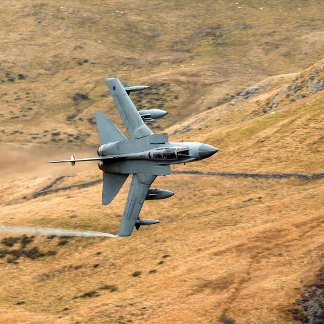 """Panavia Tornado GR4 - The Mach Loop."" stock image"