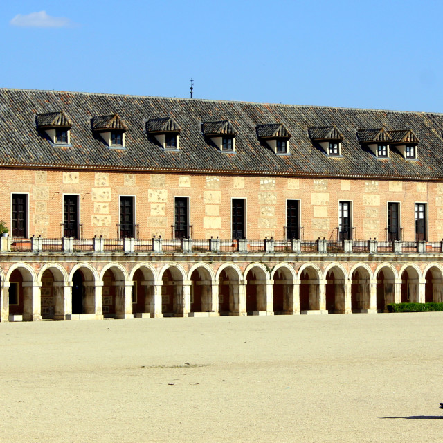 """""""We are all royalty! Royal palace of Aranjuez."""" stock image"""