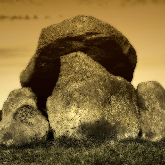 """The Giant's Ring Belfast Dolmen"" stock image"