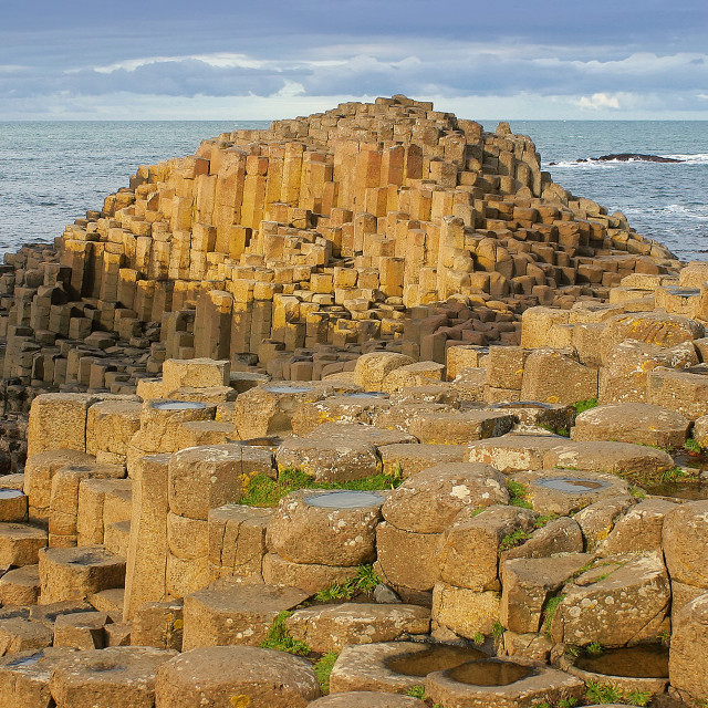 """The Giant's Causeway - The Grand Causeway"" stock image"