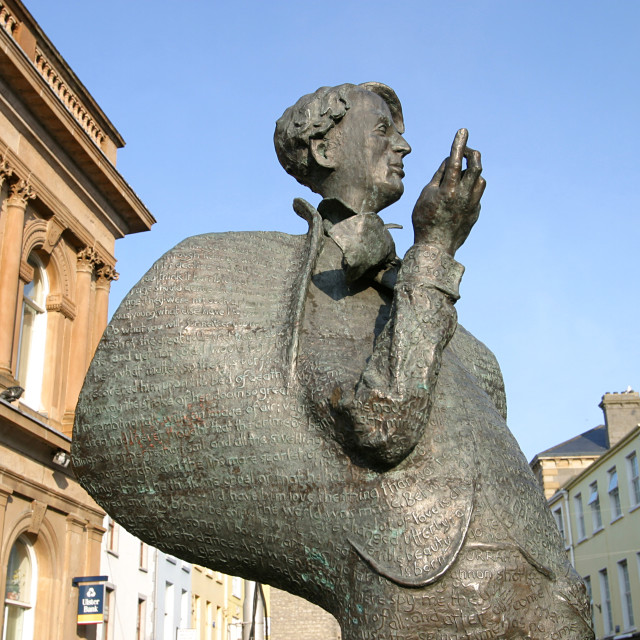 """W.B. Yeats Statue in Sligo"" stock image"