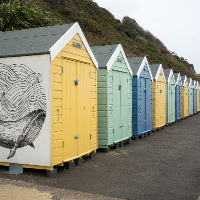 """Beach-huts"" stock image"