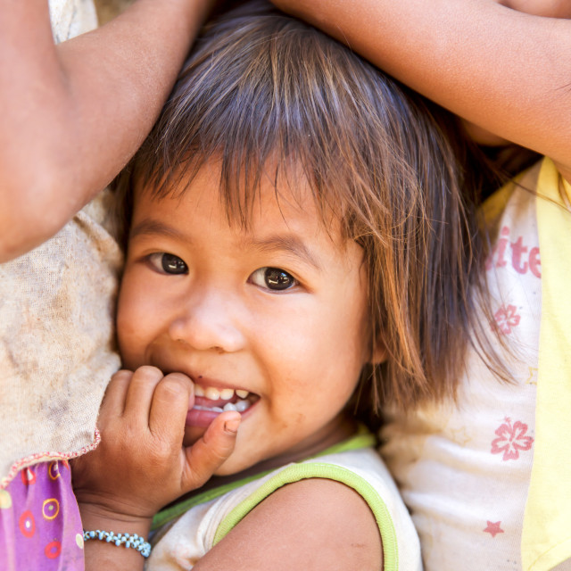 """""""Children and Childhood on the Philippines II"""" stock image"""