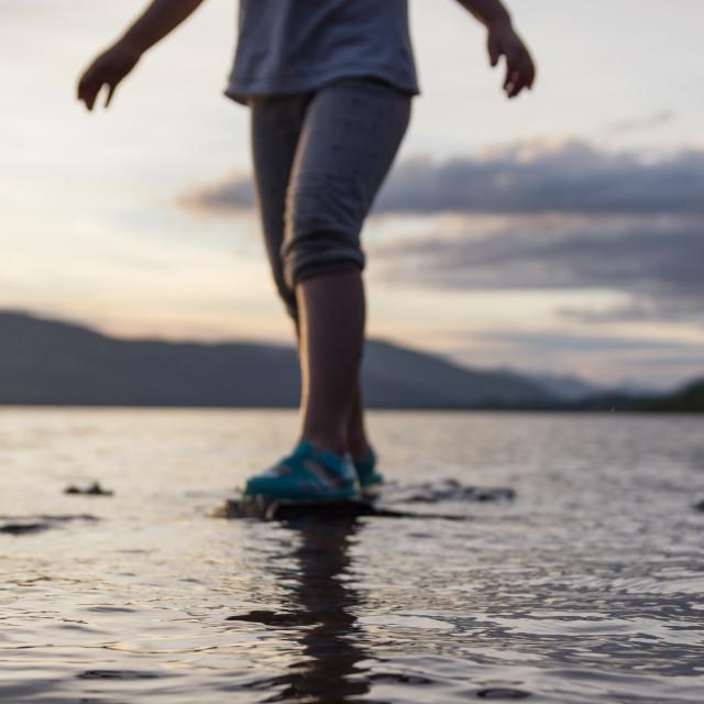 """""""Sunset Paddle"""" stock image"""