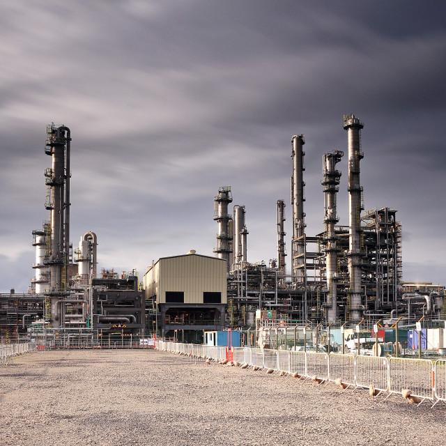 """Oil refinery"" stock image"