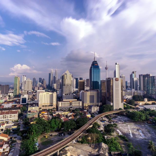 """Mid day view of Kuala Lumpur city"" stock image"
