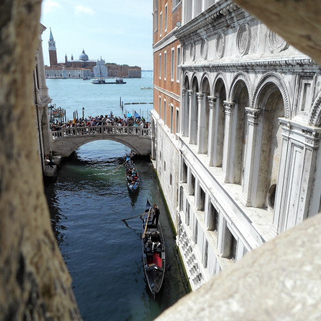 """View from the Bridge of Sighs Venice"" stock image"