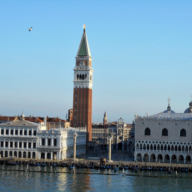 """Dawn, St Mark's Square, Venice"" stock image"