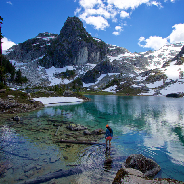 """Watersprite Lake Woman"" stock image"