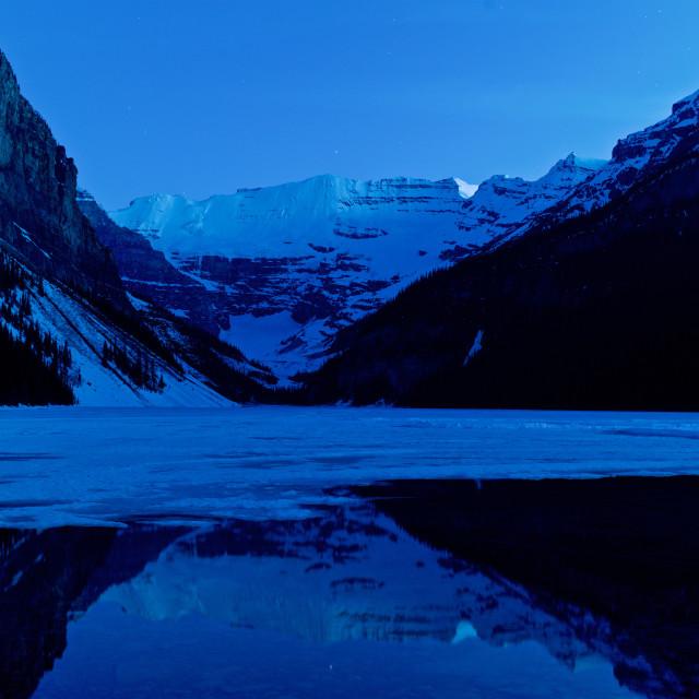 """Lake Louse Pre-dawn Light"" stock image"