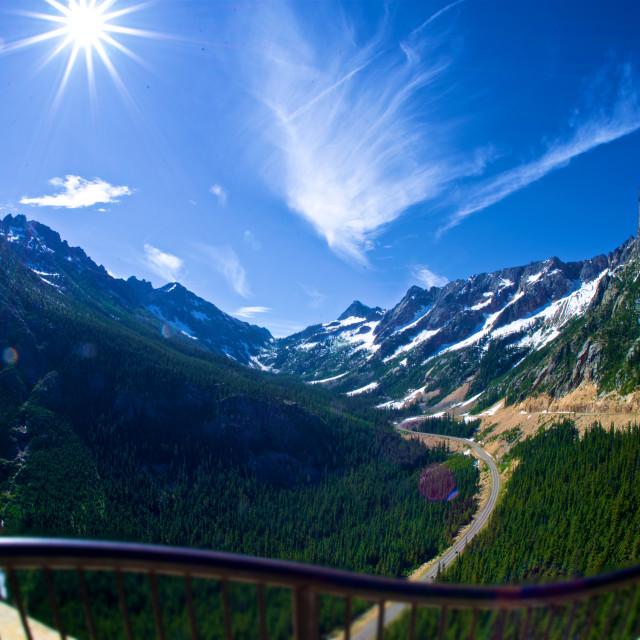 """""""Washington Pass Sunshine"""" stock image"""