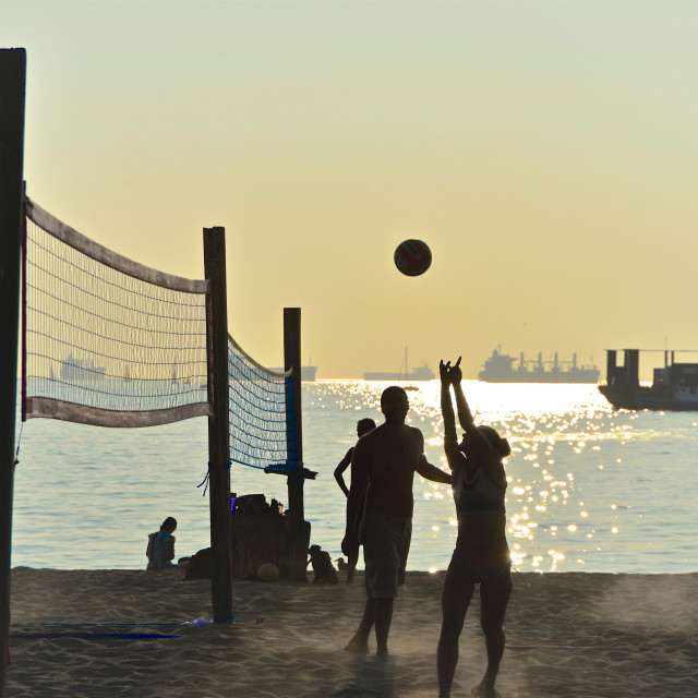 """English Bay Volleyball Players"" stock image"