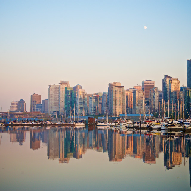 """""""Vancouver Sunset"""" stock image"""
