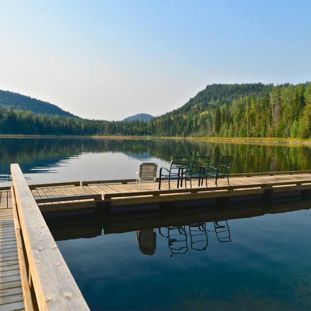 """Wilgress Lake Dock"" stock image"