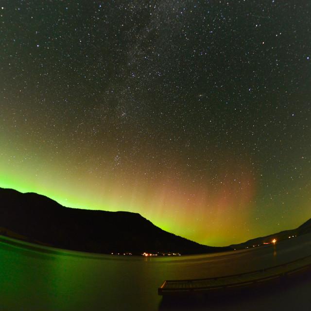 """Nicola Lake Aurora"" stock image"