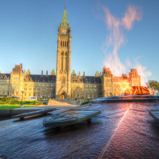 """Ottawa Canada Parliament Hill Eternal Flame"" stock image"