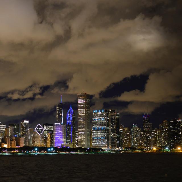 """""""Hong Kong Urban Evening Lights"""" stock image"""