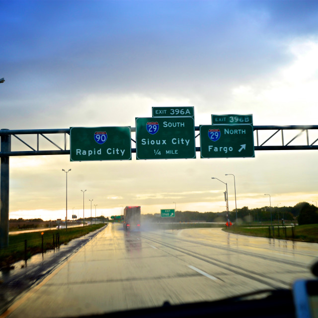 """I-90 South Dakota"" stock image"