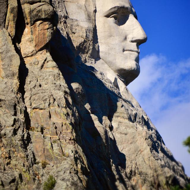 """George Washington Rushmore Bust Profile"" stock image"