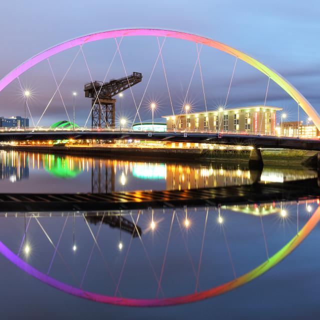 """""""The Glasgow Clyde Arc Bridge"""" stock image"""