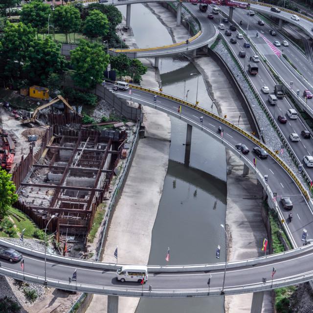 """Road of Kuala Lumpur city"" stock image"