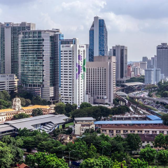"""Kuala Lumpur, 14 December 2017 - Mid day view of Kuala Lumpur ci"" stock image"