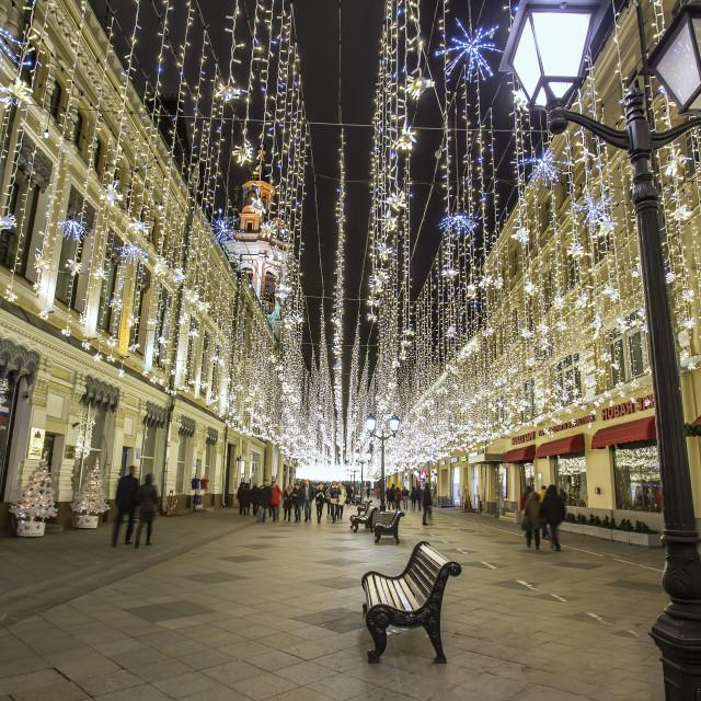 """Street christmas decoration"" stock image"