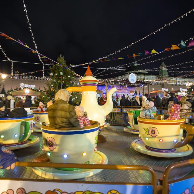 """""""Christmas carousel"""" stock image"""
