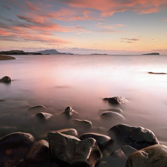 """Seil Island Sunset"" stock image"