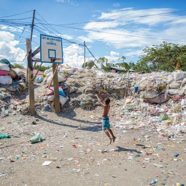 """Dump City in Cebu I"" stock image"