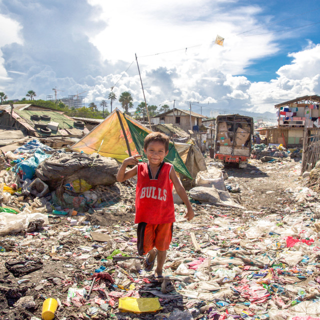 """Dump City in Cebu III"" stock image"