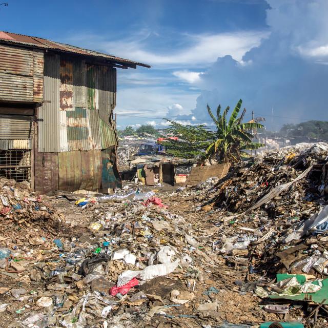 """""""Dump City in Cebu XLII"""" stock image"""