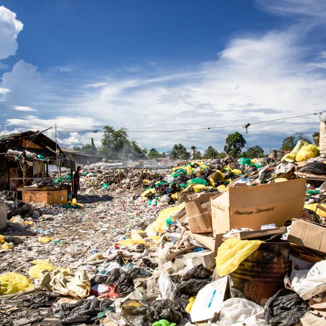 """Dump City in Cebu XLIX"" stock image"