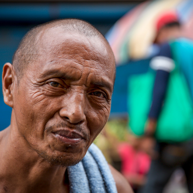 """""""People and Faces of Cebu City I"""" stock image"""