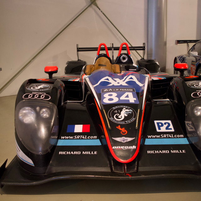 """""""First quadruple amputee to race at Le Mans"""" stock image"""