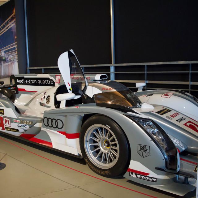 """""""Audi E-tron Quattro Le Mans car"""" stock image"""