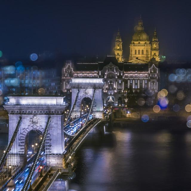 """Chain bridge Budapest"" stock image"