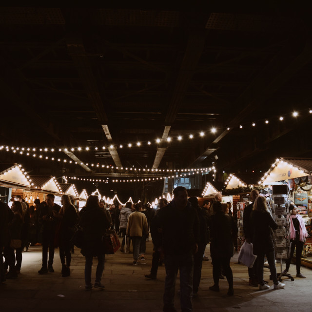 """Southbank Christmas market"" stock image"