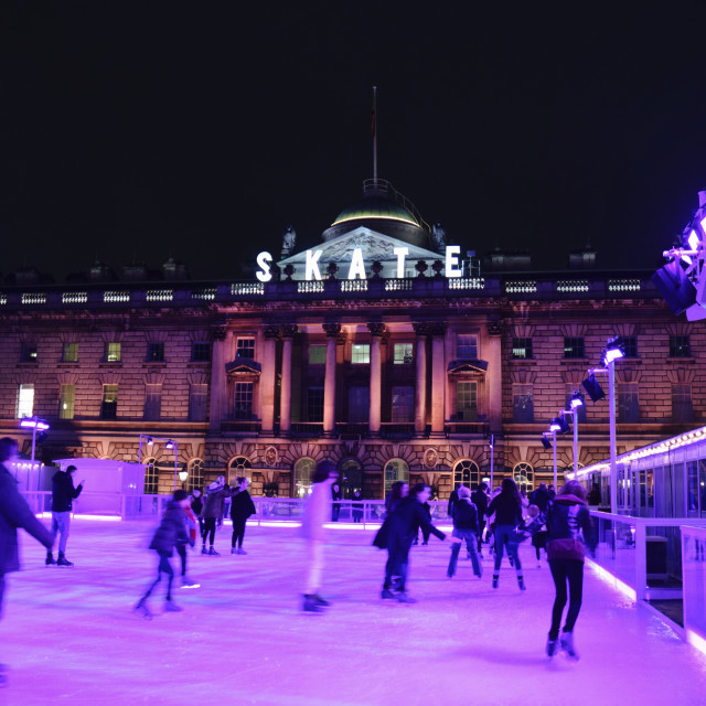 """Somerset House skating rink pt 2"" stock image"