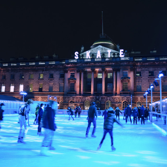 """Somerset House skating rink pt 1"" stock image"