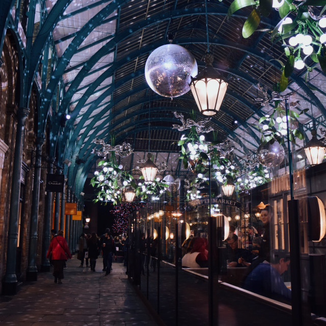 """Covent Garden Christmas lights"" stock image"