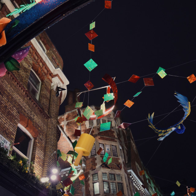 """Carnaby Street Christmas lights pt 1"" stock image"