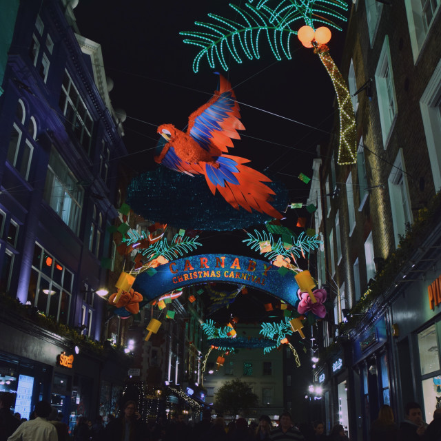 """Carnaby Street Christmas lights pt 2"" stock image"